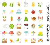 picnic  nature and spring icon...   Shutterstock .eps vector #1042706080