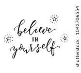 believe in yourself  vector...   Shutterstock .eps vector #1042706554