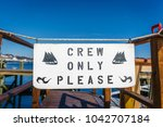 crew only please sign   Shutterstock . vector #1042707184