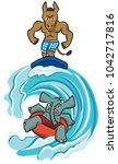 the democrats ride a wave of... | Shutterstock .eps vector #1042717816