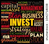 invest word cloud collage ... | Shutterstock .eps vector #1042718038