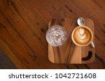 piccolo latte art in a cup... | Shutterstock . vector #1042721608
