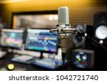 professional microphone in the... | Shutterstock . vector #1042721740