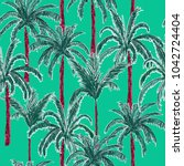 bright and trendy  summer palm... | Shutterstock .eps vector #1042724404