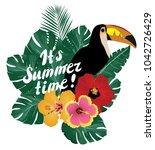 vector illustration of summer... | Shutterstock .eps vector #1042726429