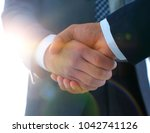 effective negotiation with... | Shutterstock . vector #1042741126