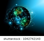 earth from space. best internet ... | Shutterstock . vector #1042742143
