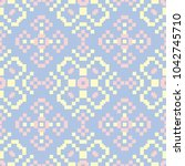 floral seamless pattern. pale... | Shutterstock .eps vector #1042745710