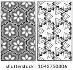 vector monochrome seamless...   Shutterstock .eps vector #1042750306