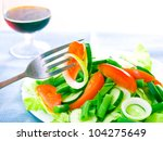 fresh salad with tomatoes ...   Shutterstock . vector #104275649