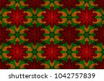 pattern with spring flowers... | Shutterstock . vector #1042757839