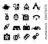 cart parts icons set  elegant... | Shutterstock .eps vector #104276570