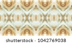 colorful seamless wavy mosaic... | Shutterstock . vector #1042769038