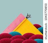 abstract funky art. minimal... | Shutterstock . vector #1042770853