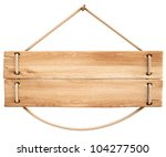 Blank Wooden Sign Hanging On A...