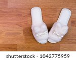 top view of a pair of new soft... | Shutterstock . vector #1042775959