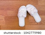 top view of a pair of new soft... | Shutterstock . vector #1042775980