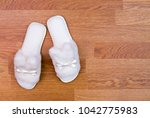 top view of a pair of new soft... | Shutterstock . vector #1042775983