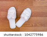 top view of a pair of new soft... | Shutterstock . vector #1042775986