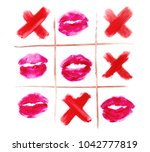 top view of tic tac toe with... | Shutterstock . vector #1042777819