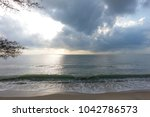 nice atmosphere at the sai keaw ... | Shutterstock . vector #1042786573