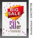 sale   big discount   | Shutterstock .eps vector #1042789738