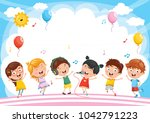 vector illustration of kids... | Shutterstock .eps vector #1042791223