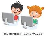 vector illustration of kids... | Shutterstock .eps vector #1042791238