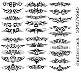 patterns of tribal tattoo for... | Shutterstock .eps vector #104279360