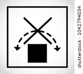 icon package. do not roll  ... | Shutterstock .eps vector #1042794034