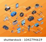 wearable technology isometric... | Shutterstock . vector #1042794619
