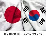 japan and south korea flag... | Shutterstock . vector #1042795348