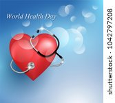 stethoscope medical equipment...   Shutterstock .eps vector #1042797208