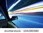 car on the road wiht motion... | Shutterstock . vector #104280380