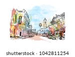 historic place and building... | Shutterstock .eps vector #1042811254