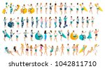 isometrics is a large set of... | Shutterstock .eps vector #1042811710