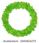 vector design festive wreath...   Shutterstock .eps vector #1042816273