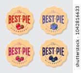 best pie logo. pie labels. pie... | Shutterstock .eps vector #1042816633