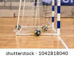 the balls in the gates for... | Shutterstock . vector #1042818040