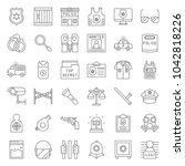 Police Related Icon Set ...