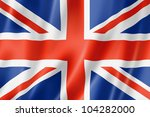United Kingdom  Uk Flag  Three...
