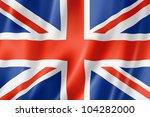 United Kingdom  Uk Flag  Three...
