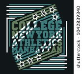 new york typography  design... | Shutterstock .eps vector #1042839340