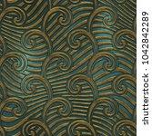 metal seamless texture with... | Shutterstock . vector #1042842289