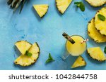 homemade refreshing fruit... | Shutterstock . vector #1042844758