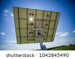 the solar panel is on the... | Shutterstock . vector #1042845490