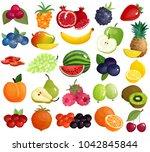fresh seasonal farmer market... | Shutterstock . vector #1042845844
