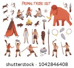 primal tribe people icons set... | Shutterstock . vector #1042846408