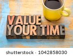 value your time   word abstract ... | Shutterstock . vector #1042858030