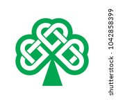 shamrock   green leaf irish... | Shutterstock .eps vector #1042858399